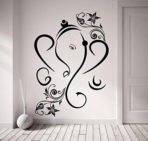 Favorite Ganesh Wall Art Inside Decor Kafe Home Decor Creative Ganesha Wall Sticker, Wall Sticker (View 11 of 15)