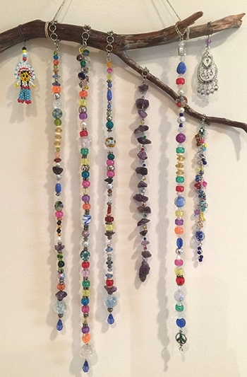 Favorite Gemstone Wall Art Intended For Customer Snapshots – Wall Art With Gemstone Beads, Glass Beads And (View 3 of 15)