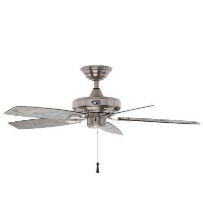 Favorite Hampton Bay – Silver – Ceiling Fans – Lighting – The Home Depot With Regard To Hampton Bay Outdoor Ceiling Fans With Lights (View 15 of 15)