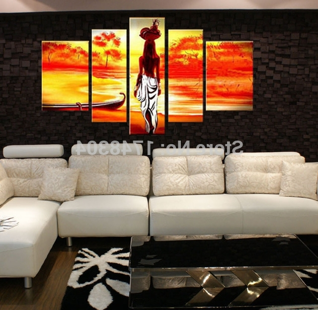 Favorite Handpainted Black Shadow Nude Oil Paintings Modern Abstract Naked Inside Abstract Body Wall Art (View 5 of 15)