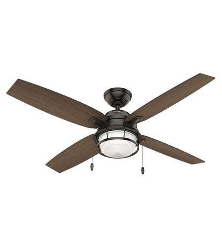 Favorite Hunter Fan 59214 Ocala 52 Inch Noble Bronze With Roasted Maple For Outdoor Ceiling Fans By Hunter (View 11 of 15)