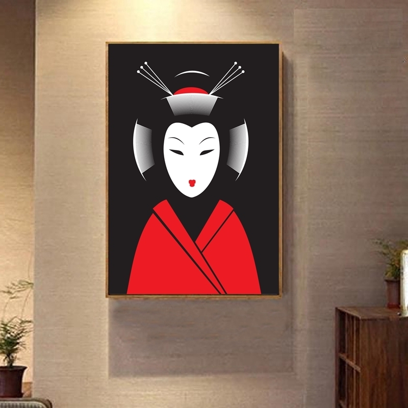 Favorite Japanese Geisha Canvas Art Print And Poster Japanese Art Expert Throughout Geisha Canvas Wall Art (View 2 of 15)