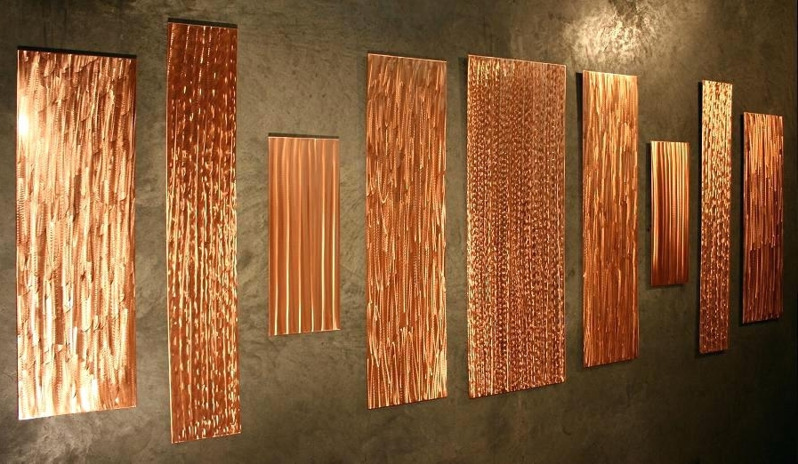 Favorite Large Copper Wall Art Throughout Copper Metal Wall Art Large Copper Wall Art With Regard To Stylish (View 7 of 15)