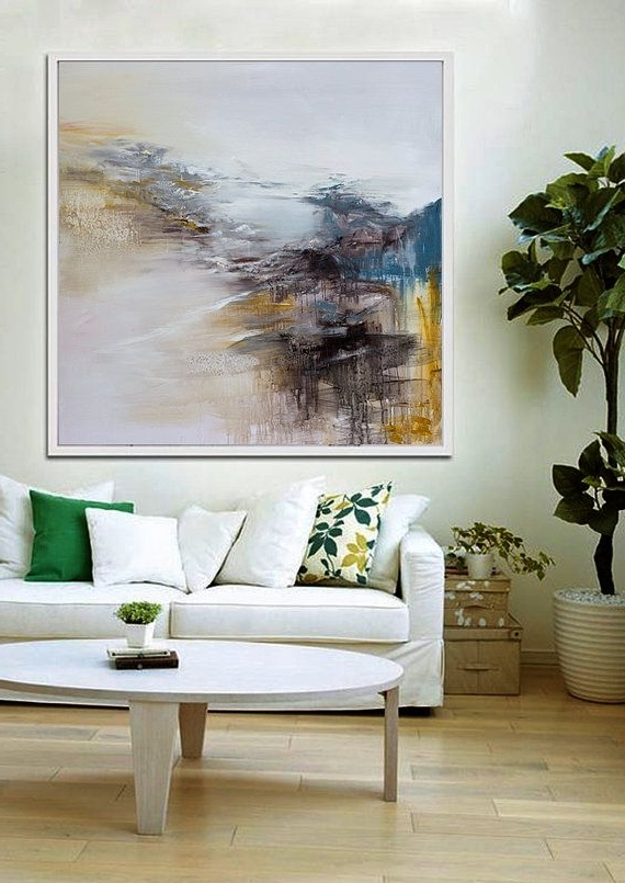 Favorite Large Wall Art, Abstract Painting, Contemporary Art, Abstract Art Pertaining To Abstract Living Room Wall Art (View 12 of 15)