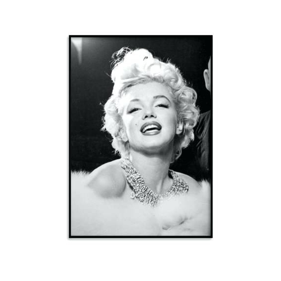 Favorite Marilyn Monroe Framed Wall Art Pertaining To Marilyn Monroe Framed Wall Art Poster Print Wall Art Vintage Black (View 15 of 15)