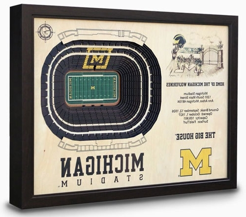 Favorite Michigan Stadium View 3D Model Wall Art Inside 3D Stadium View Wall Art (View 4 of 15)