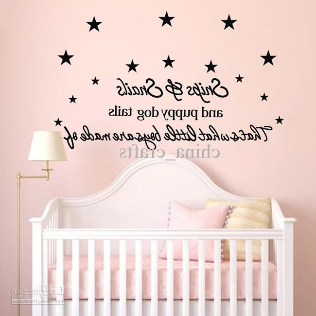 Favorite New Listing Baby Room Wall Stickers 50X110Cm Children's Room Wall With Wall Art Stickers For Childrens Rooms (View 4 of 15)