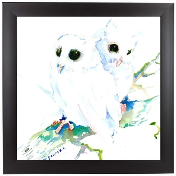 Favorite Owl Framed Wall Art For Shop Americanflat 'baby Northern Owls' Framed Wall Art – On Sale (View 11 of 15)