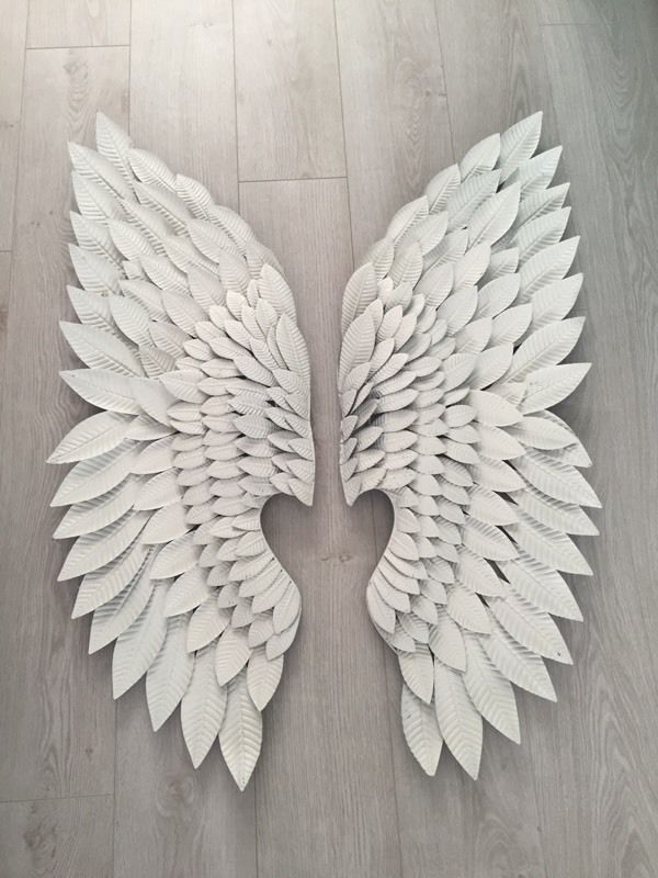 Favorite Pair Of Extra Large White Metal Angel Wings Wall Art (View 6 of 15)