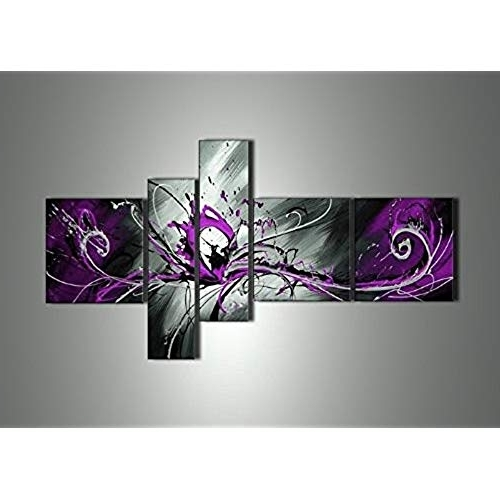 Favorite Purple And Grey Abstract Wall Art Pertaining To Purple Abstract Wall Art: Amazon (View 4 of 15)