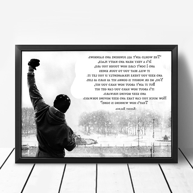 Favorite Rocky Balboa Wall Art Intended For Rocky Balboa Motivational Quotes Posters Wall Art Posters And Prints (View 9 of 15)