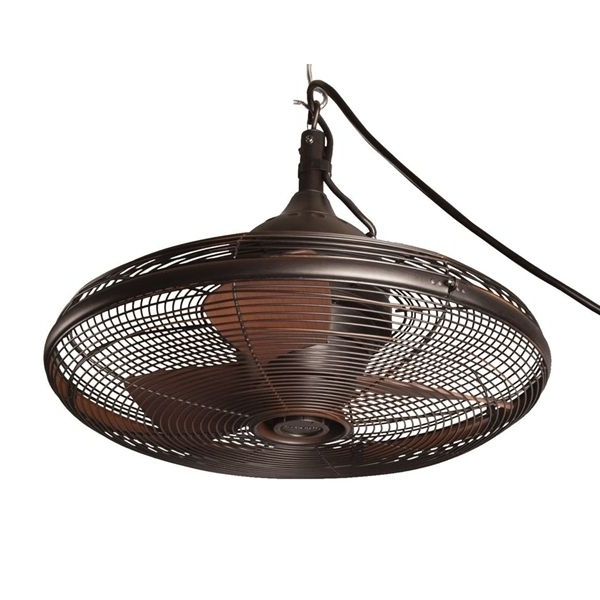 Favorite Shop Allen + Roth Valdosta 20 In Oil Rubbed Bronze Downrod Mount Within Portable Outdoor Ceiling Fans (View 2 of 15)