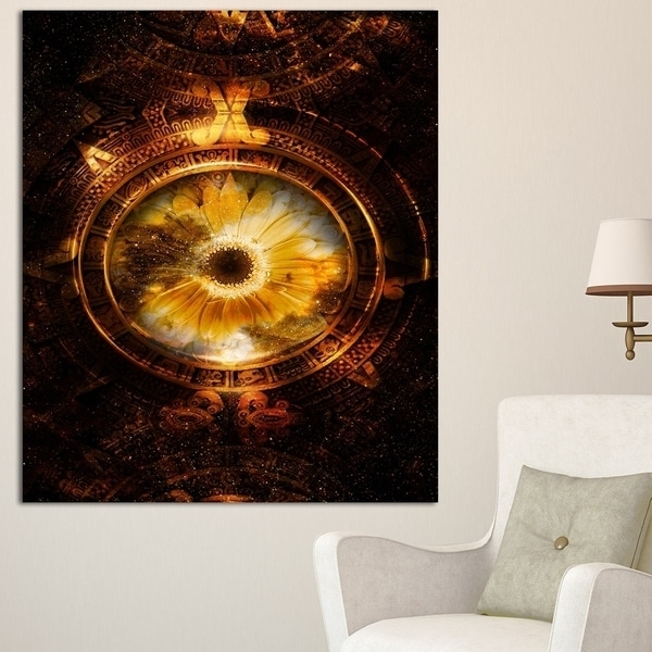 Favorite Shop Designart 'ancient Mayan Calendar Collage' Abstract Wall Art For Abstract Calendar Art Wall (View 12 of 15)