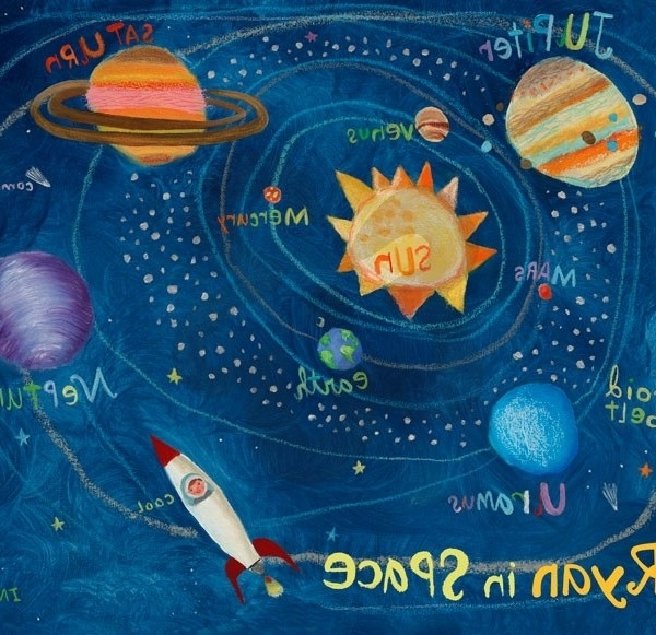 Favorite Solar System Wall Art – You Name It Baby! Pertaining To Solar System Wall Art (View 3 of 15)