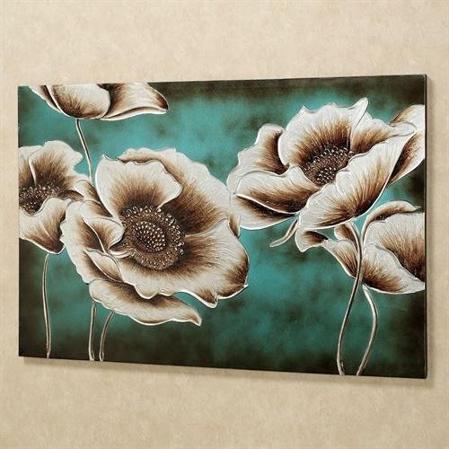 Favorite Teal Flower Canvas Wall Art Inside Jardin De Pavot Poppy Flower Canvas Wall Art (View 10 of 15)