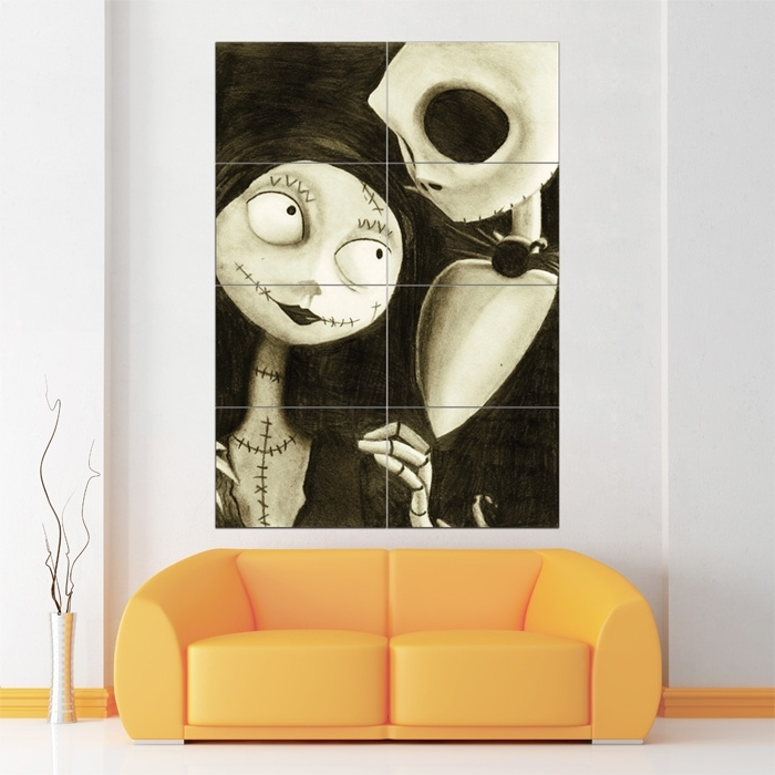 Favorite Tim Burton Wall Decals In Nightmare Before Christmas Block Giant Wall Art Poster (View 10 of 15)