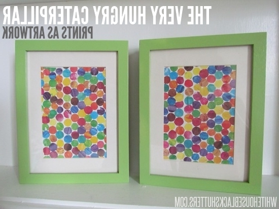 Favorite Very Hungry Caterpillar Upcycled Wall Art – White House Black Shutters Intended For Very Hungry Caterpillar Wall Art (View 2 of 15)
