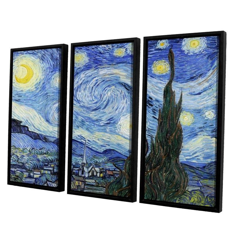 Favorite Vincent Van Gogh Multi Piece Wall Art With Artwall Starry Night (Lighter Version)Vincent Van Gogh 3 Piece (View 4 of 15)