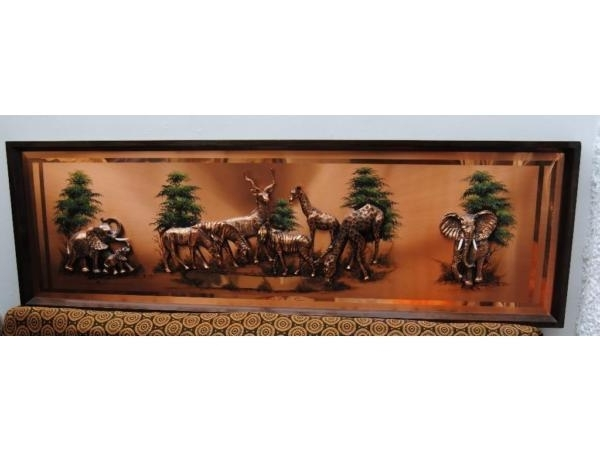 Favorite Vintage African Copper Wall Art 3D Wide Panoramic – Soldwildlife For Vespa 3D Wall Art (View 3 of 15)