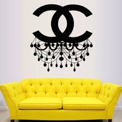 Favorite Wall Decal Vinyl Sticker Decals Art Decor Design Chandelier Luster For Coco Chanel Wall Stickers (View 1 of 15)