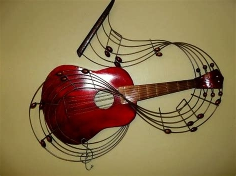 Favorite Within The Music Guitar Metal Wall Art, Musical Wall Art Decor Inside Guitar Metal Wall Art (View 4 of 15)