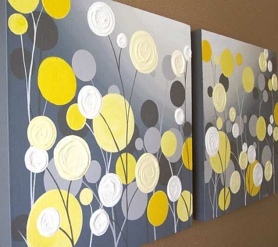 Favorite Yellow Grey Wall Art Regarding Yellow Painting On Canvas Fresh Wall Art Textured Yellow And Grey (View 8 of 15)