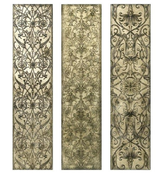 Filigree Wall Art Regarding Well Known White Wooden Wall Art Wood Wall Art Panels Filigree Pattern Black (View 9 of 15)