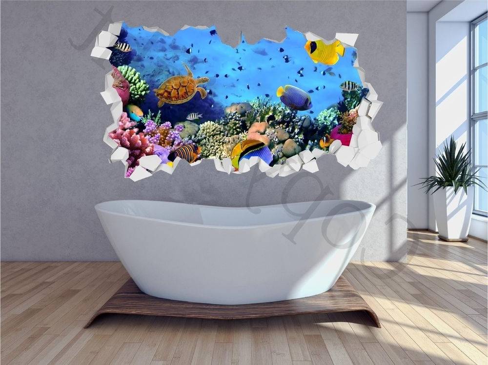 Fish 3D Wall Art For Famous S L Superb 3D Wall Art – Home Design And Wall Decoration Ideas (View 13 of 15)