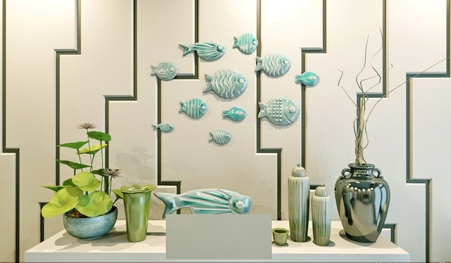 Fish 3D Wall Art Regarding Popular Fish Wall Decor 3D Model 3Ds Max Files Free Download – Modeling (View 5 of 15)