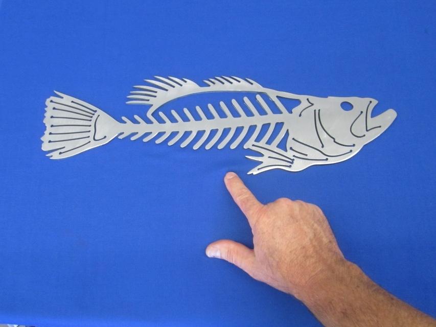 "Fish Bone Wall Art Regarding Trendy Fishing Fish Bone Wall Art Plasma Cut 20"" X 6"" X 10 Ga (View 13 of 15)"
