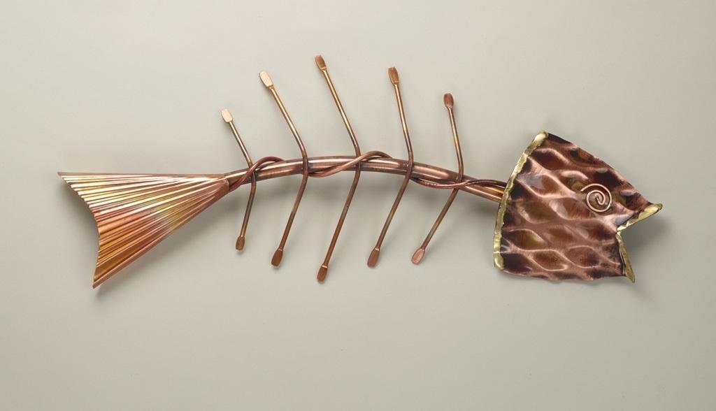 Fishbone, Wall Decor, Copper Artcatherine Murphy With Regard To Favorite Fish Bone Wall Art (View 3 of 15)