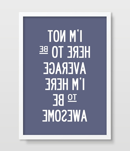 Fitness Typographic Print Inspirational Wall Art Print For Kitchen Intended For Best And Newest Inspirational Wall Art For Office (View 2 of 15)