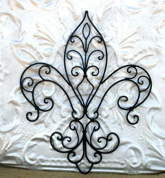 Fleur De Lis Metal Wall Art With Famous Metal Fleur De Lis Wall Art Unique Fleur De Lis Metal Wall Art (View 7 of 15)