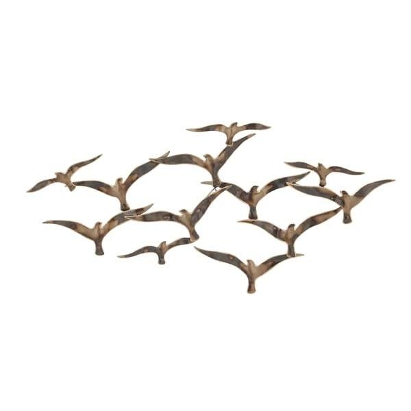 Flock Of Birds Metal Wall Art For Favorite Shop Urban Designs Flying Flock Of Birds 43 Inch Metal Wall Art (View 7 of 15)