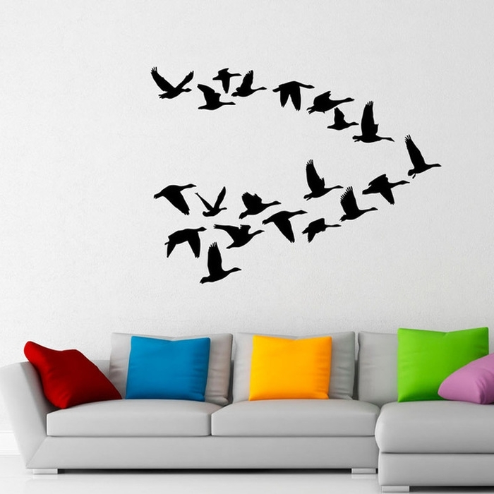 Flock Of Birds Wall Art Intended For Favorite  (View 4 of 15)