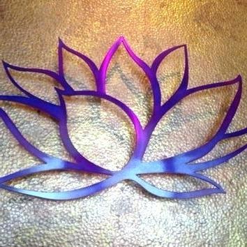 Flower Metal Wall Art Decor Purple Metal Wall Decor Lotus Flower Regarding Preferred Purple Flower Metal Wall Art (View 5 of 15)