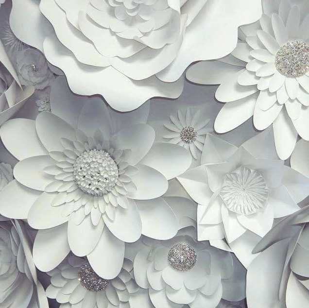 Flower Wall Decor Large Paper Flowers On Of D Art 3D Umbra – Thezero (View 5 of 15)