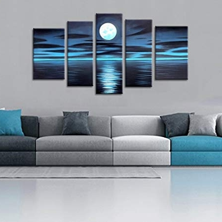 [%Fly Spray 5 Panels Framed 100% Hand Painted Oil Paintings Full Moon For Most Current Dark Blue Abstract Wall Art|Dark Blue Abstract Wall Art For Newest Fly Spray 5 Panels Framed 100% Hand Painted Oil Paintings Full Moon|Best And Newest Dark Blue Abstract Wall Art For Fly Spray 5 Panels Framed 100% Hand Painted Oil Paintings Full Moon|Most Recent Fly Spray 5 Panels Framed 100% Hand Painted Oil Paintings Full Moon For Dark Blue Abstract Wall Art%] (View 10 of 15)