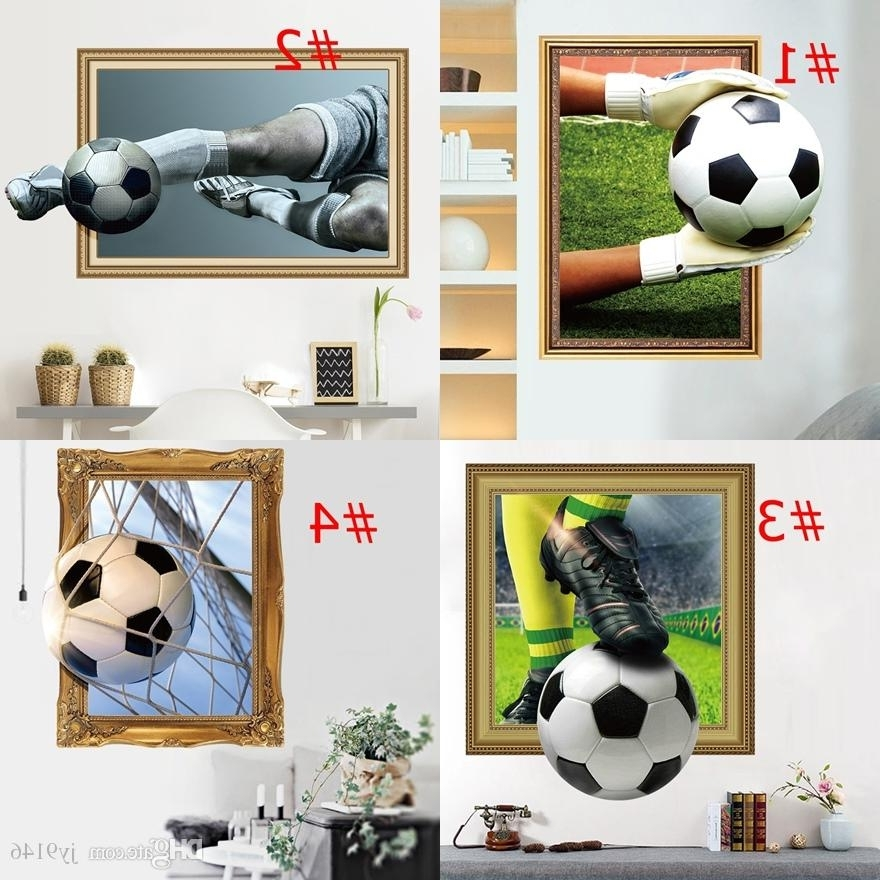 Football 3D Wall Art Intended For Well Known Crazy Football 3D Wall Stickers Decals Vinyl Sport Wall Art For (View 8 of 15)