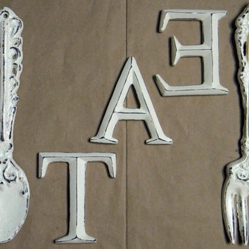Fork And Spoon Wall Art Fork And Spoon Wall Decor On Wrought Iron In Well Known Big Spoon And Fork Wall Decor (View 8 of 15)