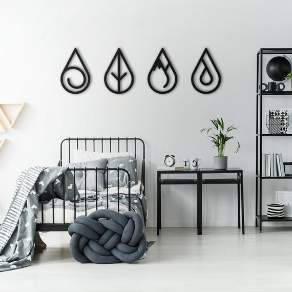 Four Elements Metal Wall Decor Metal Wall Decor Metal Wall (View 10 of 15)