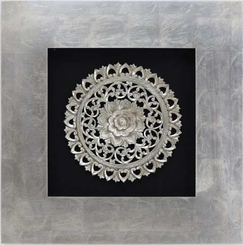 Framed 3D Wall Art With Regard To Most Current Silver Petal – Woodcarving Box Frame 3D Wall Artnovadeko On (View 13 of 15)