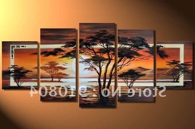 Framed 5 Panels Huge Wall Art,canvas Art,canvas Painting,modern Oil Within Favorite Huge Wall Art Canvas (View 3 of 15)