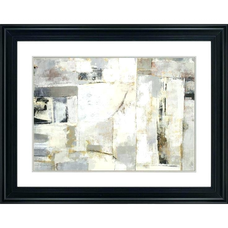 Framed Abstract Wall Art Within Well Liked Framed Abstract Wall Art Framed Modern Abstract Wall Art Canvas Oil (View 6 of 15)