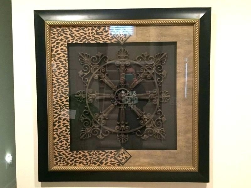 Framed Metal Wall Art Black Metal Wall Art Decor Brown Framed Wall Inside Current Metal Framed Wall Art (View 3 of 15)
