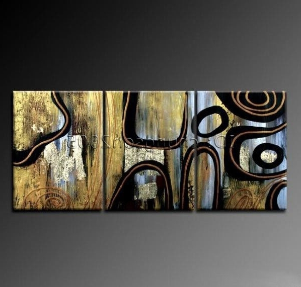 Framed!!! Modern Abstract Huge Oil Painting Canvas Art For Sale Throughout Favorite Modern Abstract Huge Oil Painting Wall Art (View 4 of 15)