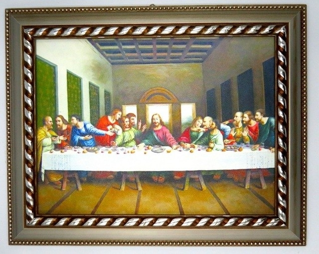 Framed Picture Of Jesus Christ The Last Supper Wall Art For Home Throughout Famous Last Supper Wall Art (View 3 of 15)