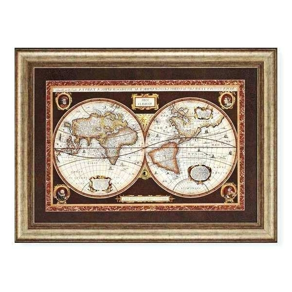 Framed World Map Art Old World Map Framed Art Print – Hcomet With Regard To Trendy Framed World Map Wall Art (View 11 of 15)