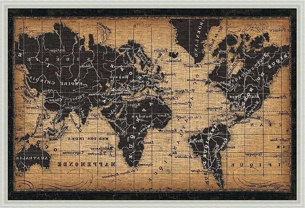 Top 15 Of Framed World Map Wall Art