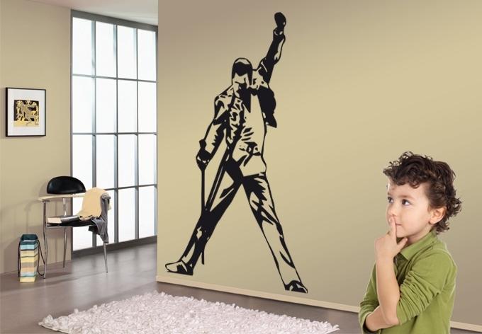 Freddie Mercury Wall Art Freddie Wall Sticker Wall Art – Copperc Art Regarding Recent Freddie Mercury Wall Art (View 10 of 15)